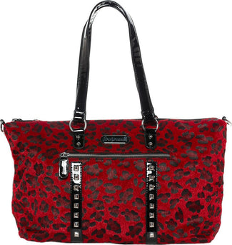 Leopard Leda [Red] | TRAVEL BAG