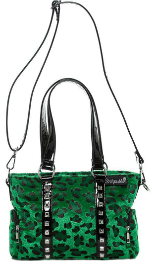 Leopard Mini Leda [Green] | STUD PURSE