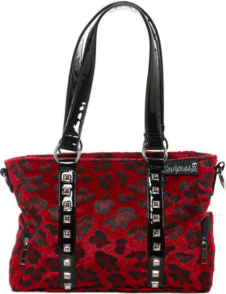 Leopard Mini Leda [Red] | STUD PURSE