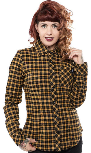 Maryann Flannel [Mustard] | TOP