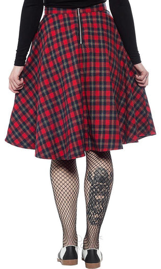 Plaid Bonnie [Red] | SKIRT