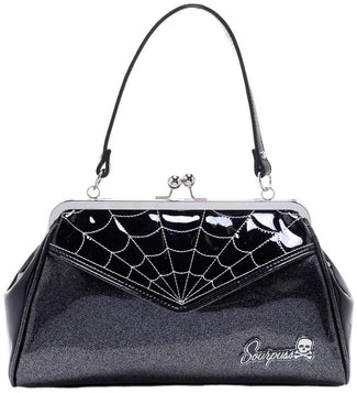 Spiderweb Backseat Baby [Black-Silver] | BAG