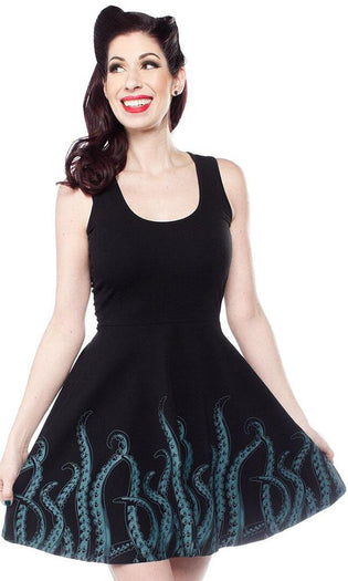 Tentacles [Teal] | SKATER DRESS