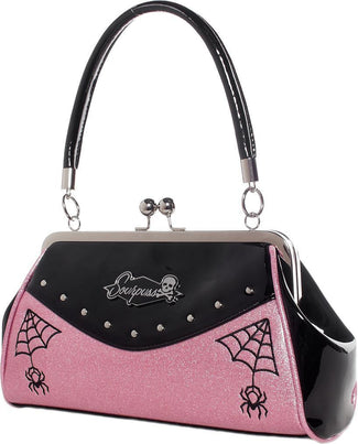 Webbed Widow [Black/Pink] | PURSE