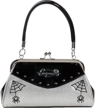 Webbed Widow [Black/Silver] | PURSE