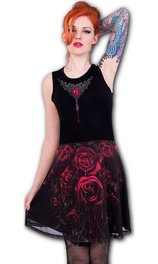 Blood Rose | MIDI SKATER DRESS