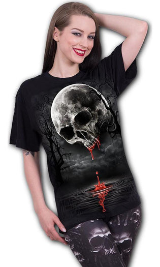 Death Moon Front Print | T-SHIRT*