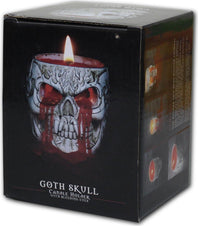 Goth Skull Resin | CANDLE HOLDER