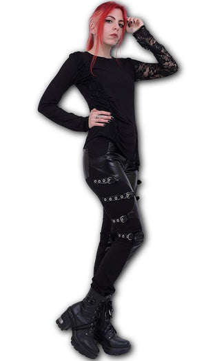 Gothic Rock Biker PVC Panel Buckle | PANTS*