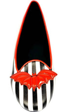 Bat Striped [Red] | LYDIA FLATS*