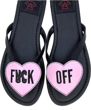Fu** Off [Black/Pink] | BETTY SANDALS