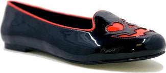 Lydia Jack O Hearts [Black/Red] | FLATS
