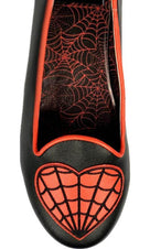 Web Heart [Black/Red] | LYDIA FLATS*