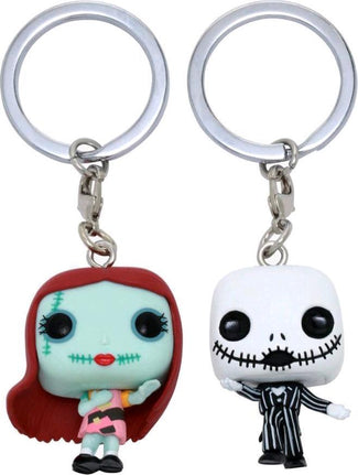 The Nightmare Before Christmas | Jack & Sally POP! KEYCHAIN [2 Pack]