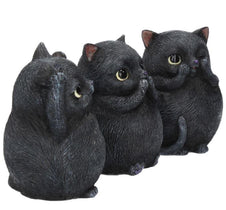 Three Wise Fat Cats | FIGURINE SET