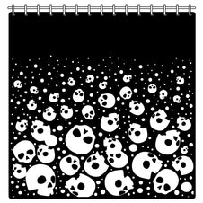 Bubble Skull Heads | SHOWER CURTAIN