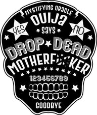 Drop Dead Ouija Skull Shape | BATH TOWEL [SET OF TWO]