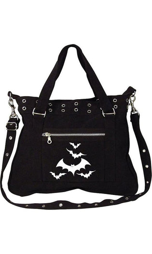 Halloween Bats Black Canvas Pistol | BELT BAG