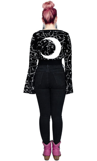 Horror Scope Bell Sleeve | KIMONO CARDIGAN