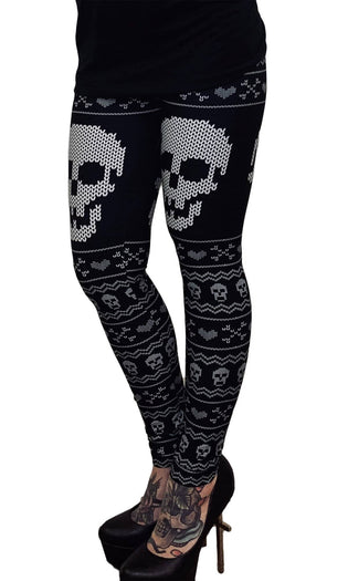 Skull Christmas Sweater | LEGGINGS