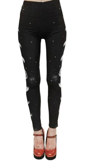 Phases Of The Moon And Stars | LEGGINGS