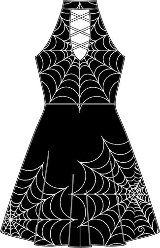 Tangled Spiderweb | SKATER DRESS
