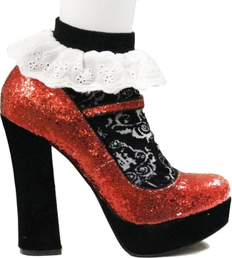 Victorian Halloween Gothic Eyelet Lace | Ankle Bobby SOCKS