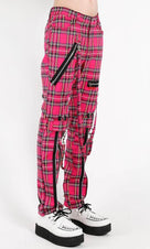 Pink Plaid | BONDAGE PANTS