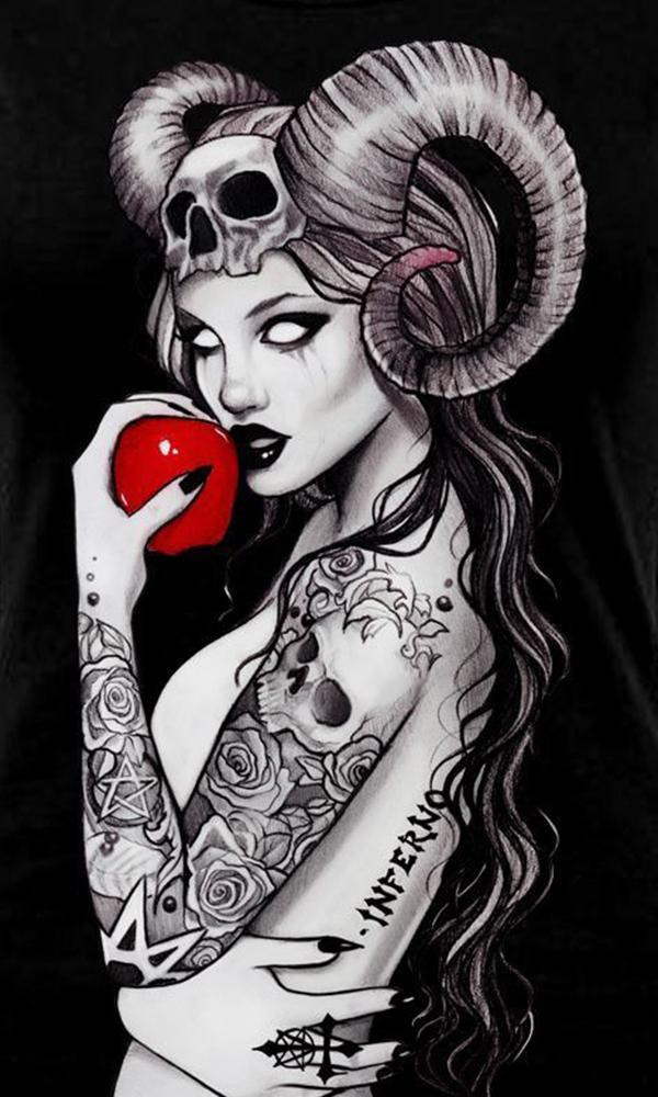Inferno Tattoo Gothic Slash Back | T-SHIRT