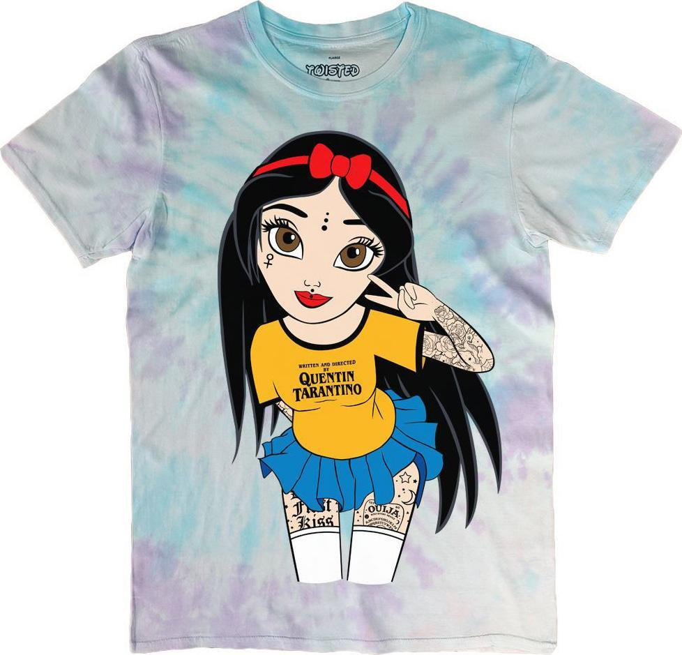 Peace & Love Tattoo Hippy Snow White Tie Dye | T-SHIRT