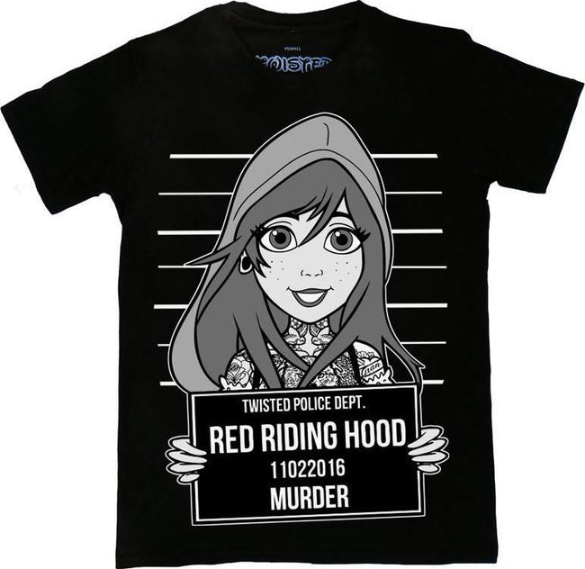 Red Riding Hood Tattoo Mugshot T Shirt