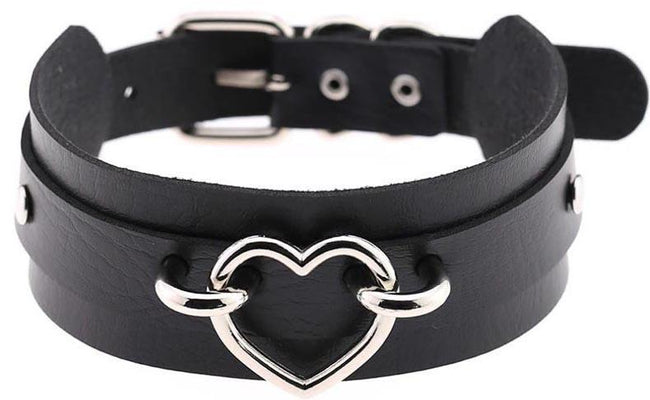 Amatory Black And Silver Choker