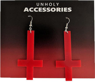 Cross [Red] | EARRINGS
