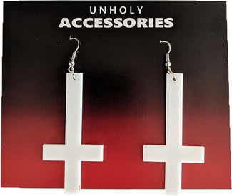 Cross [White] | EARRINGS