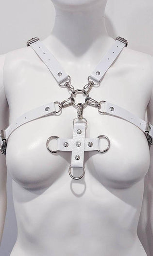 Maddie Cross [White] | BODY HARNESS