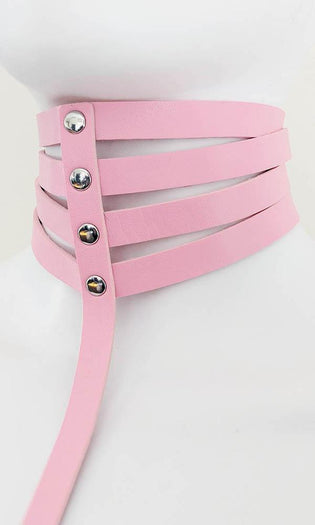 Marquise Pleather [Baby Pink] | CHOKER HARNESS