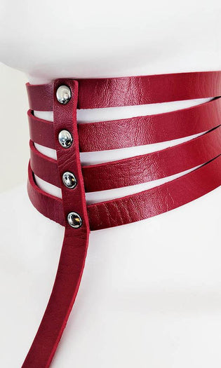 Marquise Pleather [Red] | CHOKER HARNESS*