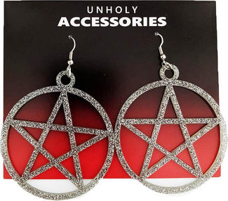 Mini Pentagram [Diamond Glitter] | EARRINGS