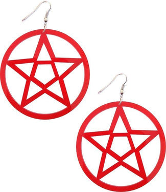 Mini Pentagram [Red] | EARRINGS