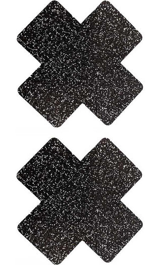 Onyx Sparkle Cross Glitter [Black] | PASTIES