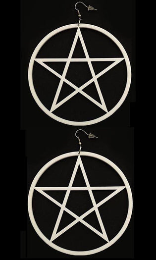 Pentagram [White] | EARRINGS
