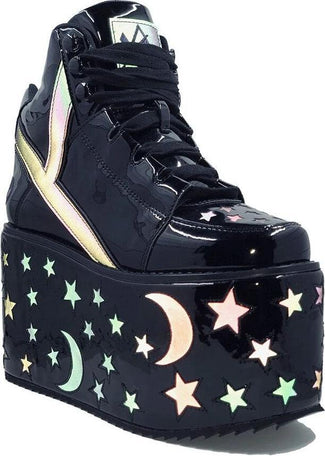 Qozmo Moon Star [Black Reflective] | PLATFORMS