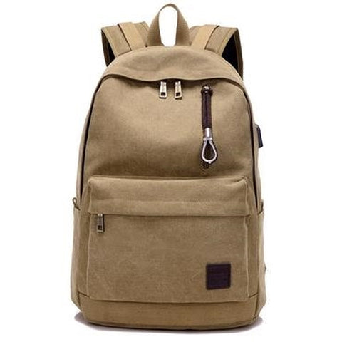 Oxford School Backpack-Khaki