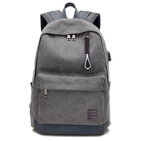 Oxford School Backpack-Grey