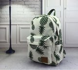 Retro Backpack-Pineapple Print
