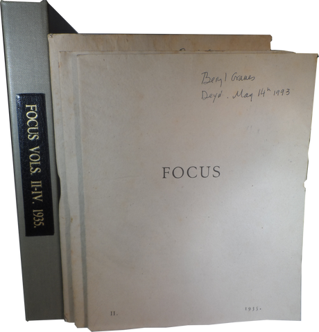GRAVES, Robert; RIDING, Laura. FOCUS, Vols 2-4
