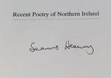 HEANEY, Seamus. PLACE AND DISPLACEMENT - RECENT POETRY OF NORTHERN IRELAND