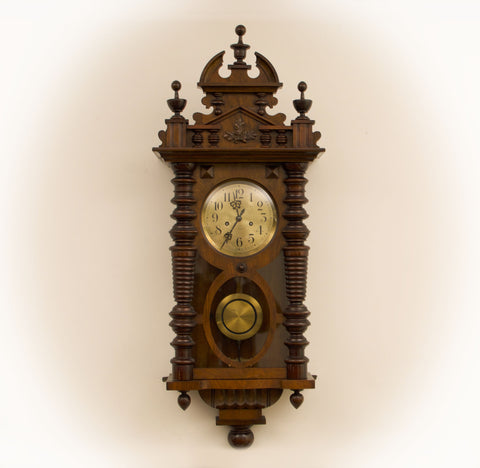 ANTIQUE GUSTAV BECKER SILESIA STRIKING WALL CLOCK c.1918 [634WC]