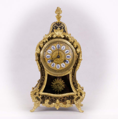 A FINE ANTIQUE FRENCH LOUIS XV STYLE BOULLE CLOCK - SAMUEL MARTI PARIS [619MA]