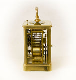 A RESTORED FRENCH ANTIQUE REPEAT STRIKING CARRIAGE CLOCK c1890 [655cc]